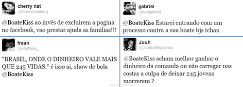 Boate Kiss nas redes sociais - Twitter